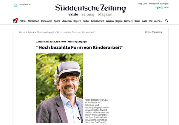 "Interview zum Thema ""Kinder-Influencer"""